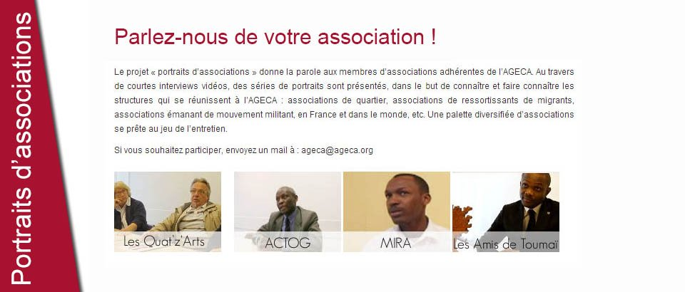 Portraits d'associations
