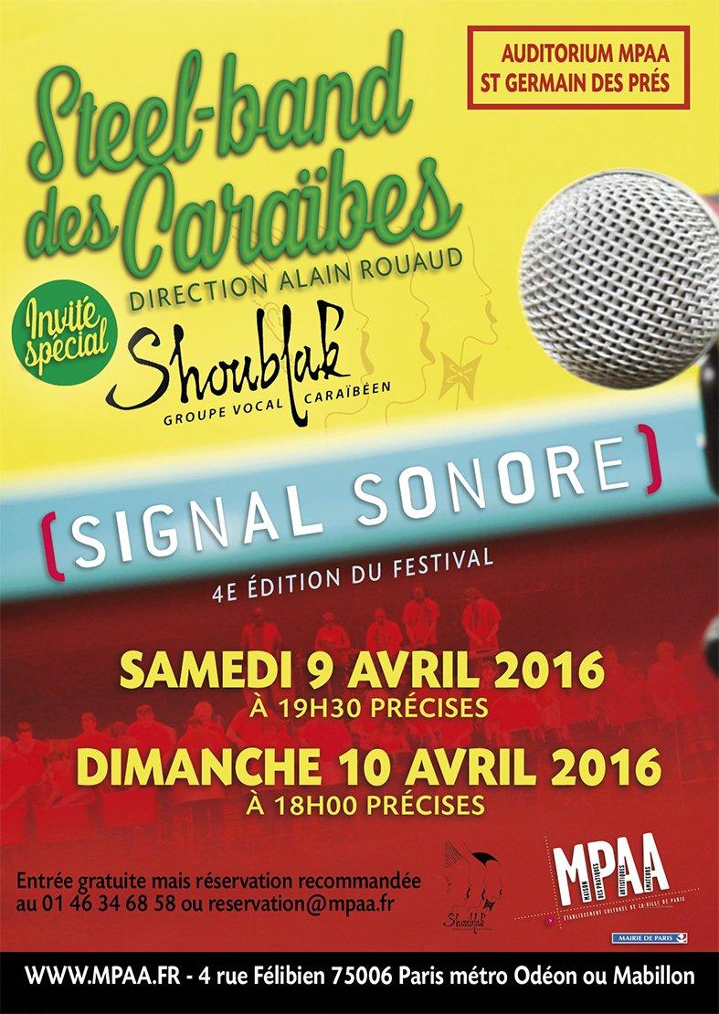 Steel band des Caraïbes - Shoublak groupe vocal invité 9 et 10 avril 2016