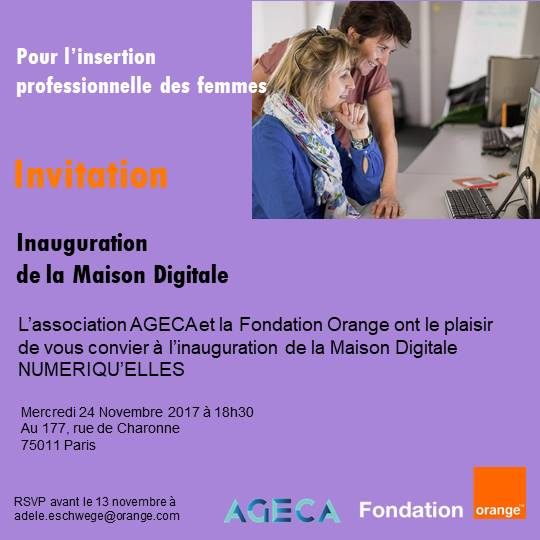Maison Digitale AGECA invitation