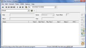 CDex écran d'accueil