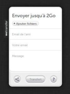 We transfer, envoyer jusqu'à 2Go de fichiers